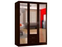 Шкаф распашной Классика 3.2.3з-о (рамка волна, зеркала)