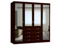 Шкаф распашной Классика 4.4.4з-о (рамка волна, зеркала)