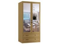 Шкаф распашной Классика 2.2б.2з-ф (рамка рельеф, зеркала)