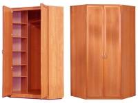 Угловой шкаф двухдверный 1100*1100/450*450 (рамка МДФ)
