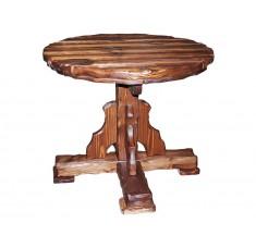 Стол круглый Атаман-900 (дерево, старение)