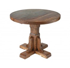Стол круглый Медведь-900 (дерево, старение)