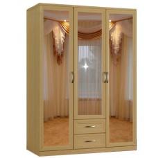 Шкаф распашной Классика 3.2.3з-ф (рамка рельеф, зеркала)
