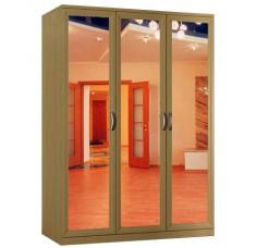 Шкаф распашной Классика 3з-ф (рамка рельеф, зеркала)