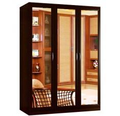 Шкаф распашной Классика 3з-о (рамка волна, зеркала)