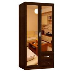 Шкаф распашной Классика 2.2.2з-ф (рамка рельеф, зеркала)