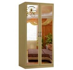 Шкаф распашной Классика 2.2з-о (рамка волна, зеркала)