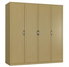 Шкаф распашной Классика 4-ф (рамка рельеф)